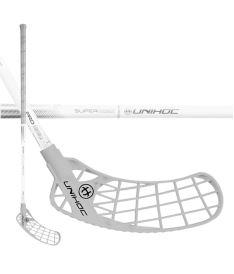Floorball stick UNIHOC STICK ICONIC SUPERSKIN PRO 27 white/silver