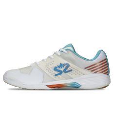 SALMING Viper 5 Shoe Men White/RaceBlue 10,5 UK - Obuv