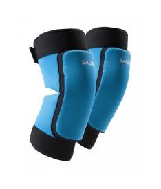 Knieschützer für Floorballgoalie SALMING Core Knee Pads Cyan Blue