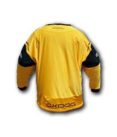 Brankářský florbalový dres OXDOG BLOCKER GOALIE SHIRT orange/black - Brankářský dres