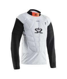 Schutzwesten für Floorballgoalies SALMING Protectiv Vest E-Series White/Orange