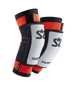 Knieschützer für Floorballgoalie SALMING Kneepads E-Series White/Orange