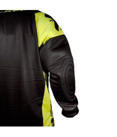 Brankářská florbalová vesta EXEL G2 GOALIE PROTECTION JERSEY black/yellow - Chrániče a vesty