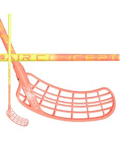 Floorball stick ZONE STICK SUPREME AIR SL 27 yellow/coral 100cm