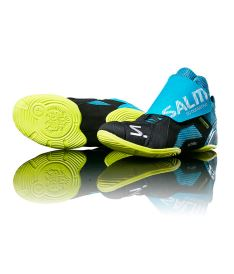 SALMING Slide 5 Goalie Shoe Cyan/Black