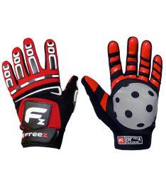 Floorball goalie gloves FREEZ G-180 GOALIE GLOVES red junior