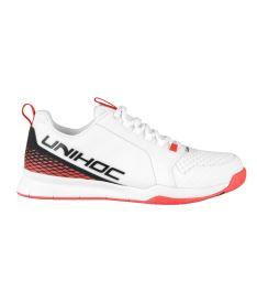 Florbalová obuv UNIHOC SHOE U4 PLUS LowCut Men wh/red US12/UK11/EUR46 - Obuv