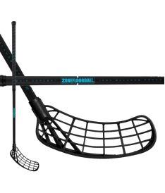 Florbalová hokejka ZONE STICK MAKER AIR 29 black/turquoise 92cm