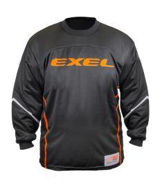 Brankářský florbalový dres EXEL S100 GOALIE JERSEY black/orange