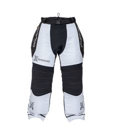 Floorball goalie pant OXDOG TOUR+ GOALIE PANTS white/black  150/160
