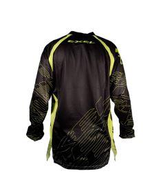 Brankářský florbalový dres EXEL G1 GOALIE JERSEY #1 black/yellow  M* - Brankářský dres