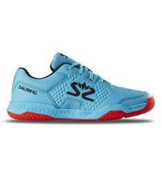 SALMING Hawk Court Shoe Jr Blue/Red