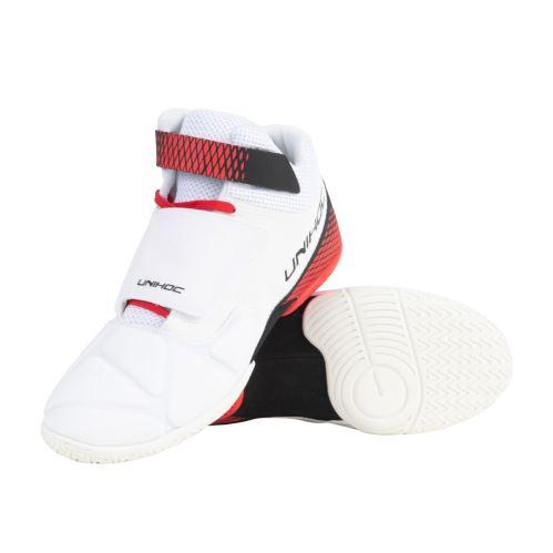 UNIHOC Shoe U4 Goalie white/red US7.5 /UK6.5 / EUR40 - Obuv