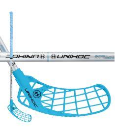 Floorball Schläger UNIHOC STICK ICONIC Curve 1.5° 35 blue/silver 83cm