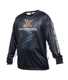 Floorball goalie jersey OXDOG XGUARD GOALIE SHIRT Black, no padding 150/160