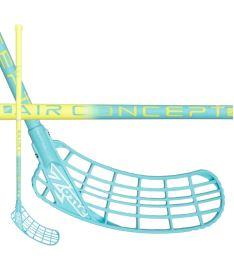 Florbalová hokejka ZONE STICK ZUPER AIR 31 neon yellow/turquoise 92cm