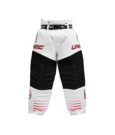 UNIHOC GOALIE PANTS INFERNO white/neon red