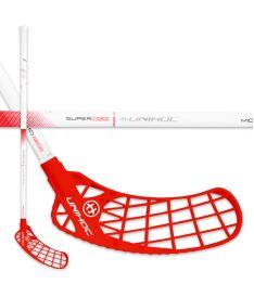 Floorball Schläger UNIHOC STICK ICONIC SUPERSKIN MID 30 white/red