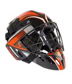 Unihockey Torwart Helme EXEL S100 HELMET senior black/orange