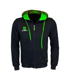 Sports sweatshirts and hoodies FREEZ VICTORY ZIP HOOD black/green junior
