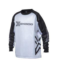 Floorball goalie jersey OXDOG XGUARD GOALIE SHIRT JR black/white
