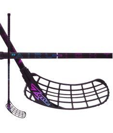 Floorball stick ZONE STICK ZUPER AIRLIGHT 27 black/rainbow 104cm