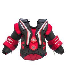 VAUGHN VELOCITY V9 EXE PRO CARBON CHEST & ARM PROTECTOR black/red senior