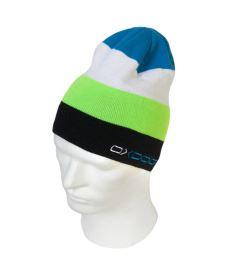 Čepice OXDOG JOY-2 WINTER HAT lime/blue L/XL  - Kšiltovky a čepice