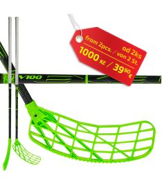 Florbalová hokejka EXEL V100 BLACK 2.6 101 ROUND MB