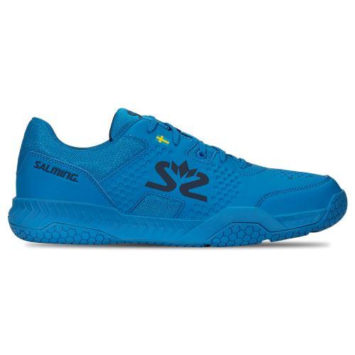SALMING Hawk Court Shoe Men Brilliant Blue/Poseidon Blue 9 UK - Obuv