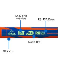 Floorball stick EXEL RIFLE LIGHT 2.9 blue 98 ROUND  '15 - Floorball stick for adults