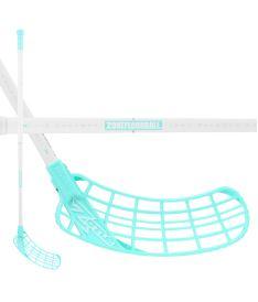 Florbalová hokejka ZONE STICK ZUPER AIR SL 29 white/turquoise 100cm