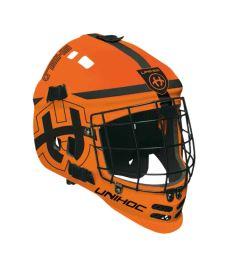 Floorball goalie mask UNIHOC GOALIE MASK SHIELD neon orange/black