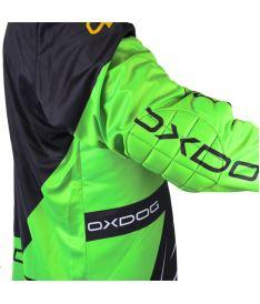 OXDOG VAPOR GOALIE SHIRT black/green S - Brankářský dres