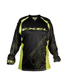 Brankářský florbalový dres EXEL G1 GOALIE JERSEY #1 black/yellow