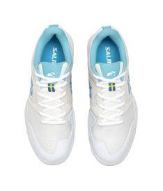 SALMING Viper 5 Shoe Men White/RaceBlue 12,5 UK - Obuv