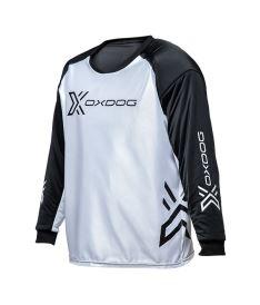 Floorball goalie jersey OXDOG XGUARD GOALIE SHIRT white/black, padding  150/160