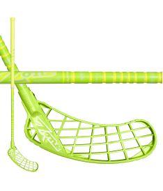 Floorball stick ZONE STICK MONSTR RIPPLE UL 29 neon yellow 100cm