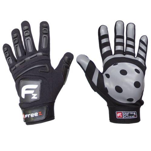 Brankářské florbalové rukavice  FREEZ GLOVES G-180 black SR - M - Brankařské rukavice