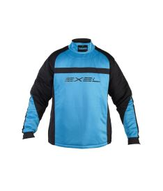 Brankářský florbalový dres EXEL TORNADO GOALIE JERSEY black/blue