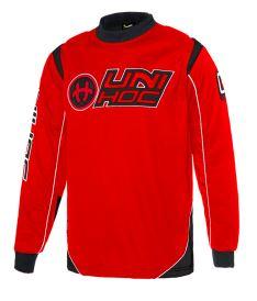 Floorball goalie jersey UNIHOC GOALIE SWEATER OPTIMA neon red/black