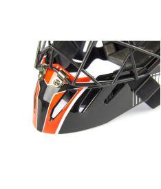 Brankářská maska EXEL S100 HELMET senior black/orange - Brankářské masky