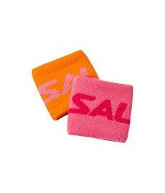 SALMING Wristband Short 2-pack Orange/Pink