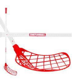 Floorball stick ZONE STICK HYPER AIR SL 27 white/red 100cm (D+)