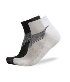 Sportovní ponožky FREEZ ANCLE SOCKS 2-pack black+white