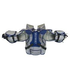 VAUGHN CHEST & ARMS VENTUS SLR PRO blue/silver/white senior - L - Arm + chest