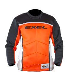 Brankářský florbalový dres EXEL S60 GOALIE JERSEY junior orange/black