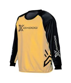Floorball goalie jersey OXDOG XGUARD GOALIE SHIRT apricot/black, padding  150/160