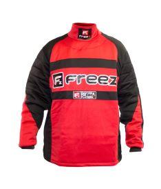 Floorball goalie jersey FREEZ Z-80 GOALIE SHIRT BLACK/RED junior