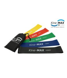Kine-MAX Professional Mini Loop Resistance Band KIT ( 5ks - extra lehká až extra těžká )